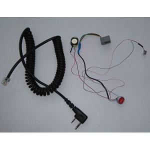 Lekki zestaw słuchawkowy z przyciskiem na kasku zamkniętym
