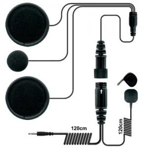 Zestaw słuchawkowy do kasku zamkniętego, wersja dla urządzeń mobilnych