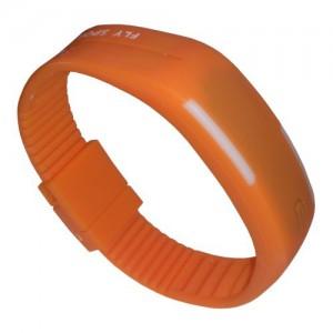 Zegarek silikonowy Sari - Pomarańczowy