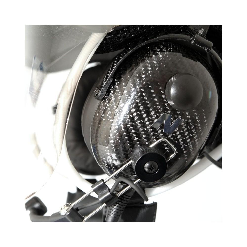 Kask PPG NGC-100 wykonany w całości z włókna węglowego  z aktywnym tłumieniem i łącznością Navcomm + Bluetooth