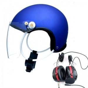 Kask PPG NG-100 Niebieski z łącznością Spider