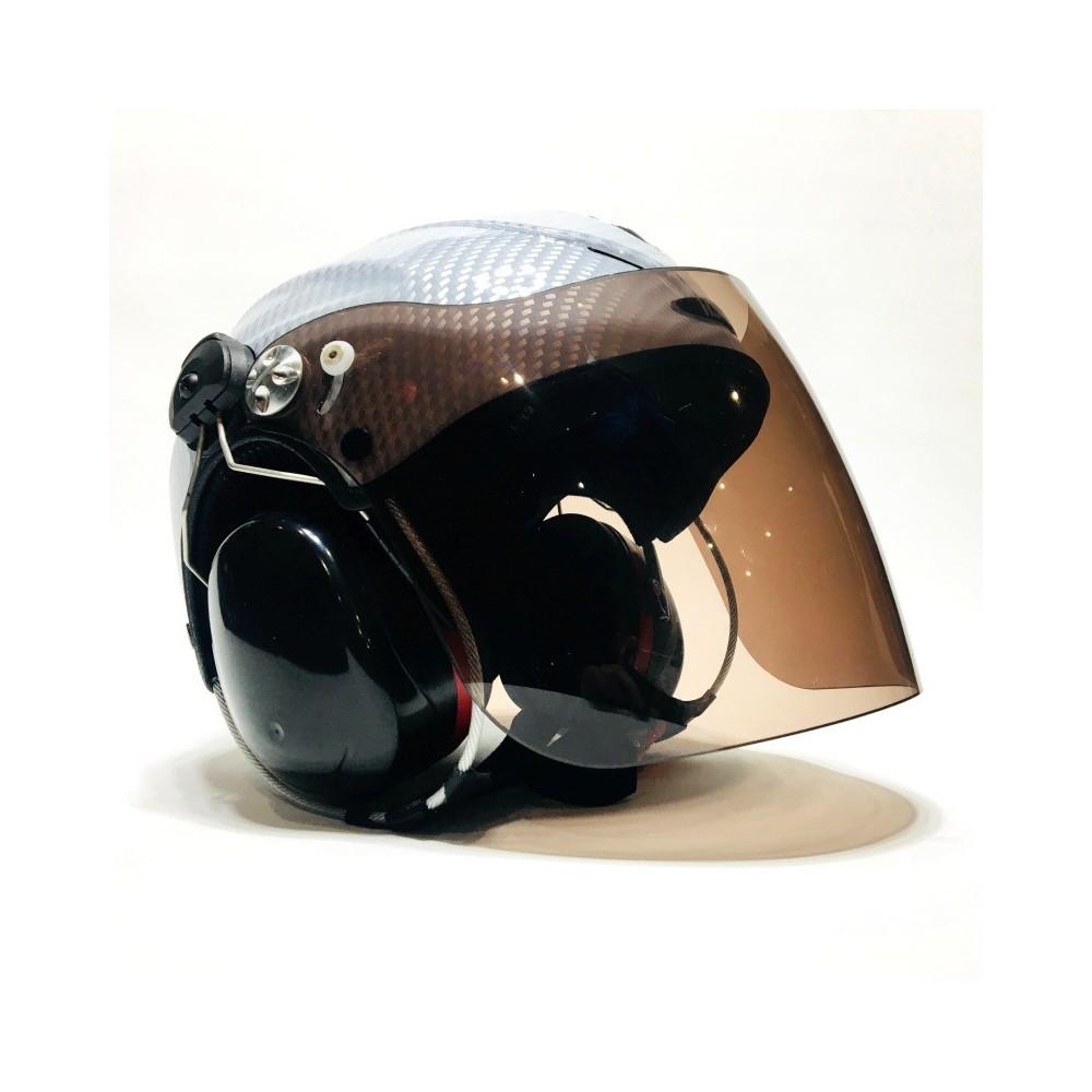 Solar X Carbon-Optic Biały słuchawki Peltor X4 z łącznością Spider