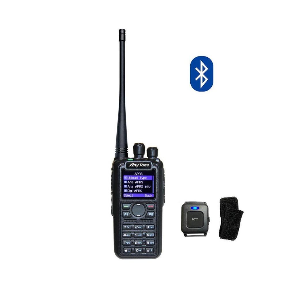 AnyTone AT-D878UVII Plus z BlueToothAnyTone AT-D878UV Plus z BlueTooth, DMR + UHF/VHF