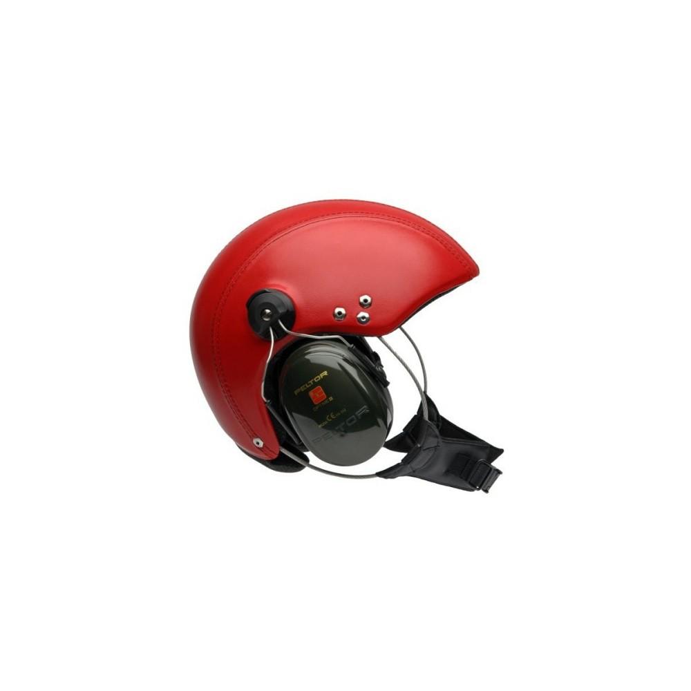 Glam pokryty skórą bez wizjera, łączności i słuchawek Red lub Black