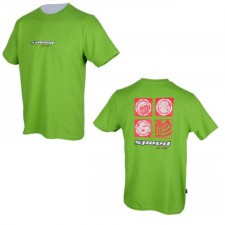 T-Shirt Speed Stamps brązowy