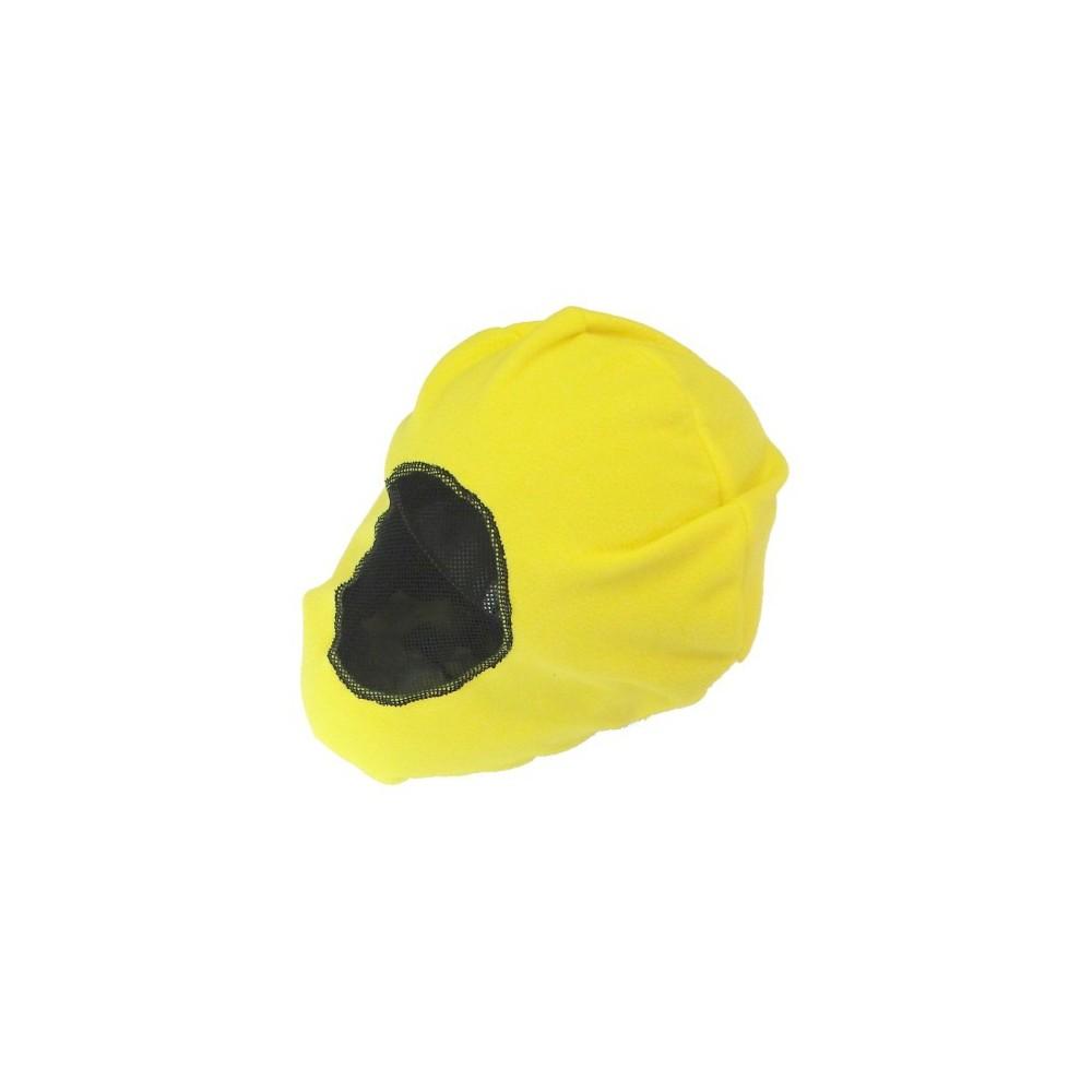 Worek żółty z siatką na kask