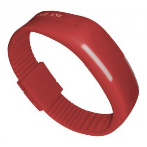 Zegarek silikonowy Sari - Czerwony