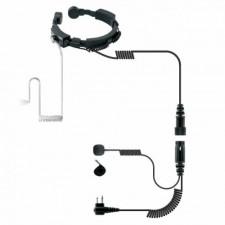 Laryngofon dwuprzetwornikowy z fonowodem (PTT na palec) (LGF-23/K)