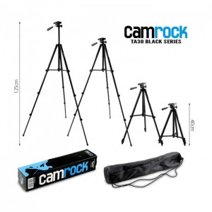 Statyw Camrock TA30 futerał poziomica 3D czarny