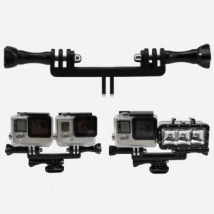 Uchwyt szyna na dwie kamery GoPro/SJCam