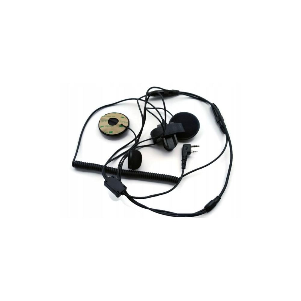 Zestaw słuchawkowy do montażu w kasku otwartym