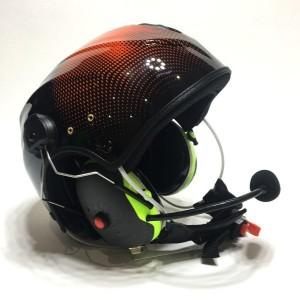 Solar X Czarno-pomarańczowy słuchawkami Peltor X4 z łącznością Spider