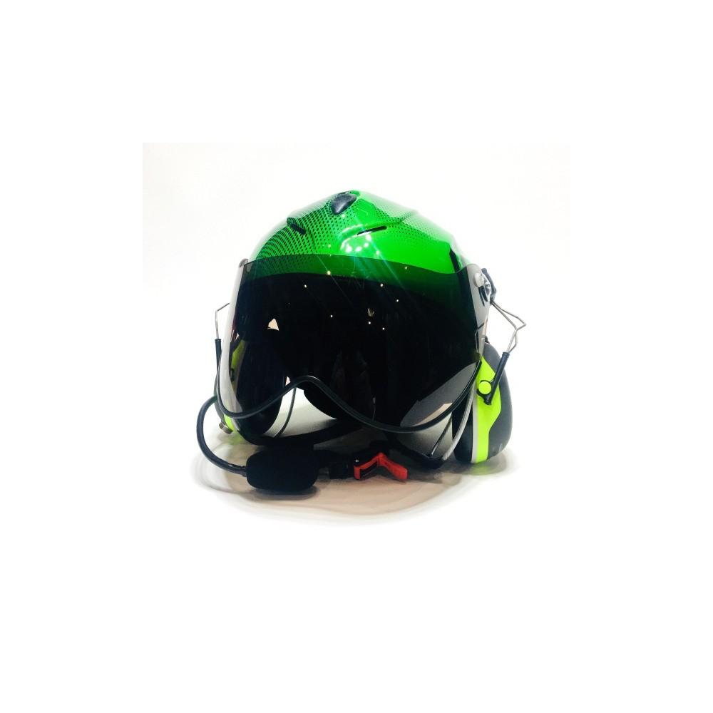Solar X Czarno-zielony słuchawkami Peltor X4 z łącznością Spider